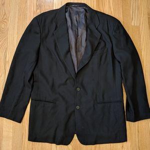 Emporio Armani black virgin wool blazer jacket